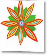 Power Flower Metal Print