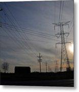 Power Grid Metal Print