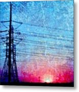 Power In Blue Metal Print