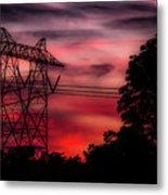 Power In Red Metal Print