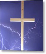 God Power Metal Print
