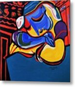 Power Nap  Picasso By Nora Metal Print
