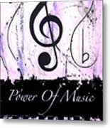 Power Of Music Purple Metal Print