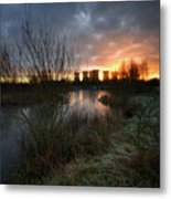 Power Plant Sunrise 1.0 Metal Print