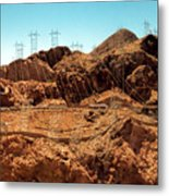 Power Transport From Hoover Dam Metal Print