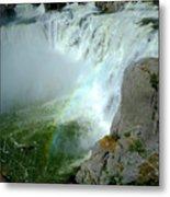 Powerful Large Waterfall Shoshone Falls Amazing Beauty Water Fal Metal Print