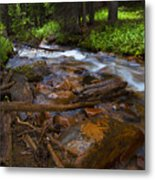 Powerful Spring Runoff Metal Print