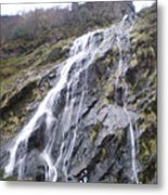 Powerscourt Waterfall In Ireland Metal Print