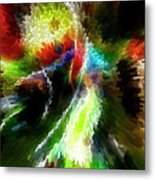Powwow Dancer Abstract Metal Print