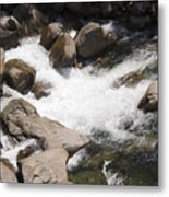 pr 144 - White Water on the Merced Metal Print