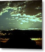 pr 171 - Green Sunset II Metal Print