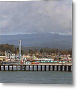 pr 205- The Boardwalk At Santa Cruz Metal Print
