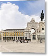 Praca Do Comercio, The Square Of Commerce Metal Print