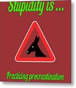 Practicing Bigstock Donkey 171252860 Metal Print