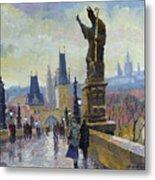 Prague Charles Bridge 04 Metal Print
