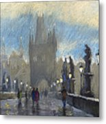 Prague Charles Bridge 06 Metal Print