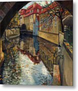 Prague Chertovka 3 Metal Print by Yuriy  Shevchuk