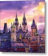 Prague City Of Hundres Spiers Variant Metal Print