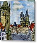 Prague Czech Republic Metal Print by Irina Sztukowski