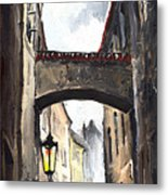 Prague Old Street 02 Metal Print