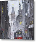 Prague Old Tram 03 Metal Print by Yuriy  Shevchuk