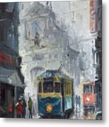 Prague Old Tram 04 Metal Print
