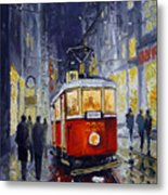 Prague Old Tram 06 Metal Print