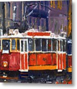 Prague Old Tram 09 Metal Print by Yuriy  Shevchuk
