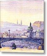 Prague Panorama Chehuv Bridge Metal Print
