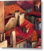 Prague Roofs Metal Print