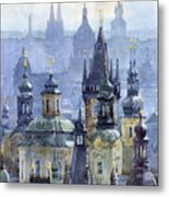 Prague Towers Metal Print by Yuriy  Shevchuk