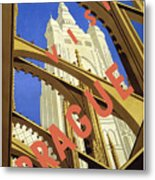 Prague Travel Poster Metal Print