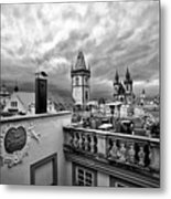 Prague View From The Top Metal Print