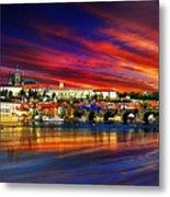 Pragues Historic Charles Bridge Metal Print