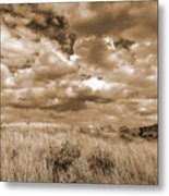 Prairie And Sky Metal Print