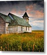 Prairie Church Metal Print