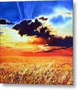Prairie Gold Metal Print