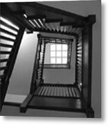 Prairie House Stairs Metal Print