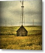 Prairie Pump Metal Print