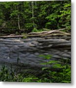 Prairie River Log Jam Metal Print