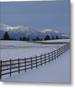 Prairie Snow Metal Print