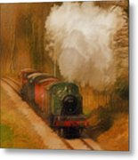 Prairie Train Metal Print by Skye Ryan-Evans