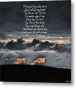 Praise you in the Storm Metal Print