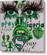 Pray For Nigeria Metal Print