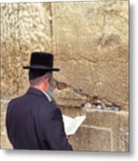 Prayer At The Western Wall Metal Print