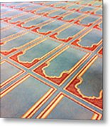 Prayer Mats Printed On Mosque Carpet Metal Print by Jill Tindall
