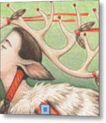 Prayer Of Elk Woman Metal Print