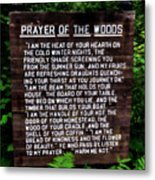 Prayer Of The Woods Metal Print