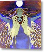 Praying Goodnight To The Moon Metal Print