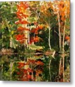 Prentiss Pond, Dorset, Vt., Autumn Metal Print